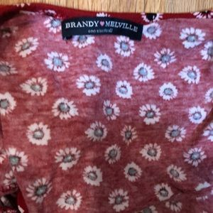 Brandy Melville Tops - Brandy Melville crop top red with flowers